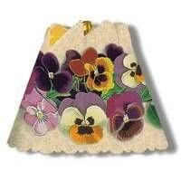 Antique Spring Pansies Spin Shades Revolving Nightlight