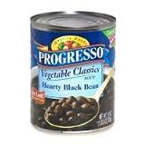 Progresso Vegetable Classics Hearty Black Bean Soup 19 oz (Pack of 12) ~ Progresso