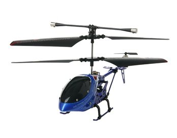 ATTOP YD-112 3-Channel I/R RC Helicopter with Built-in Gyroscope (Blue)