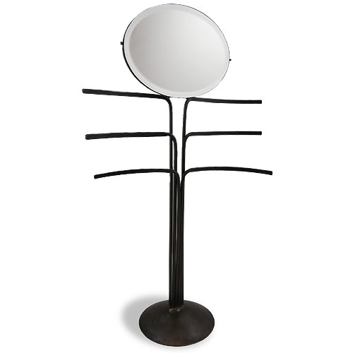 Iron Jewelry Tree Stand with Mirror, 18