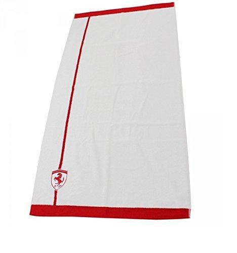 Ferrari telo doccia bianco/rosso 70x 140cm da bagno Sport tempo libero Formula 1telo doccia nuovo