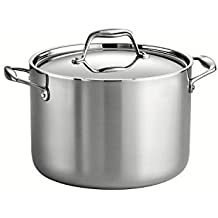Tramontina 80116/041DS Gourmet 18/10 Stainless Steel Induction-Ready Tri-Ply Clad Covered Stock Pot, 8-Quart,...