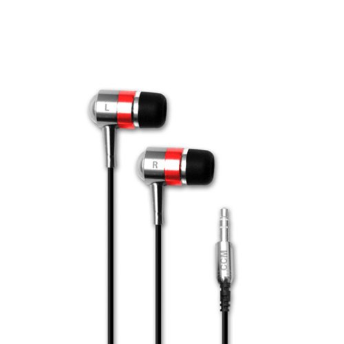 Hi-Fi Noise-Reducing Ear Buds For Kindle Fire, Ipad, Ipad 2, Ipad3 And Touchscreen Tablets (Silver, Red)