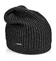 Autograph Knitted Beanie Hat with Wool
