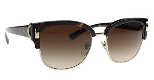 Bvlgari Authentic Sunglasses BV8188B Dark Havana w/Grey Gradient Lens 50413 BV 8188-B (57mm)