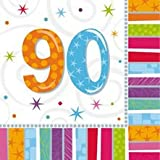Amscan International Radiant Birthday Party Napkins 90, Pack of 16