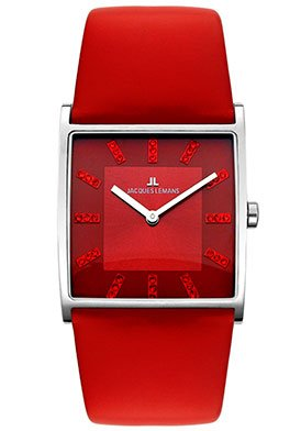 Jacques Lemans Women's 1230C High Fashion Collection Lugano Red Watch