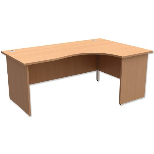 Trexus Classic Radial Desk Panelled Right Hand W1800xD1200xH725mm Beech