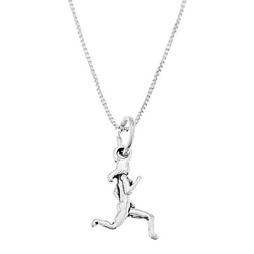 Sterling Silver Double Sided Female Runner Necklace