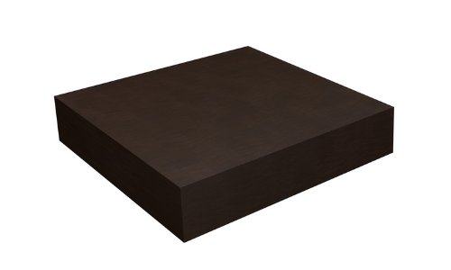Way Basics zBoard Floating Shelf, 2 by 10 by 10-Inch, Espresso