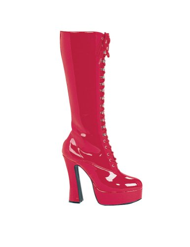 Easy Lace Boots Red Sz7 Halloween Costume - 1 size