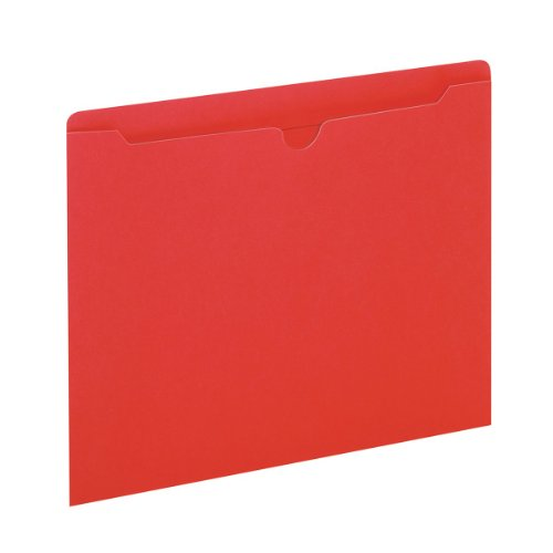 Globe-Weis Colored File Jackets, Reinforced Tab, Flat, Letter Size, Red, 100 Jackets Per Box (B3010DTRED)