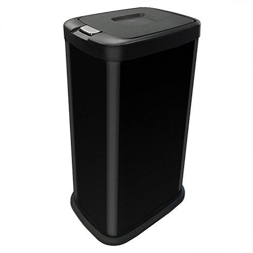 kendan-negro-38-litros-touch-bin-cubo-de-basura-de-acero-basurero-reciclaje-38-l