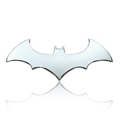 Batman 3d Chrome ABS Car Emblem by Real Time
