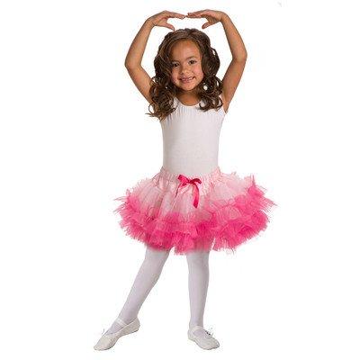 Child Fluffy Tutu Pink/Hot Pink Standard