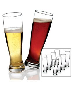 Anchor Hocking Grand Pilsner Beer Glasses (Set of 8) by Anchor Hocking