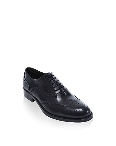 BRITISH PASSPORT Zapatos Oxford Wing Cap Negro