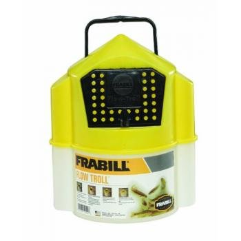 Frabill Flow Troll Bait Container 6 Quart Yellow White