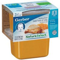 Gerber 2nd Foods Nature Select Sweet Potato & Turkey, 3.5 OZ (Case of 8) (015000073602)