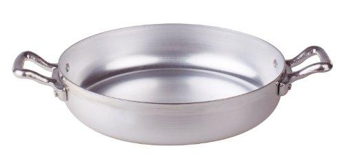Pentole Agnelli Tegame in Alluminio BLTF, con 2 Manici in Acciaio Inossidabile, Argento, 22 cm