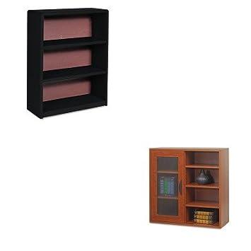 KITSAF7171BLSAF9444CY - Value Kit - Safco Aprs Single-Door Cabinet w/Shelves (SAF9444CY) and Safco Value Mate Series Bookcase (SAF7171BL)