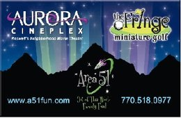 Aurora Cineplex & The Fringe Miniature Golf Gift Card ($10) image