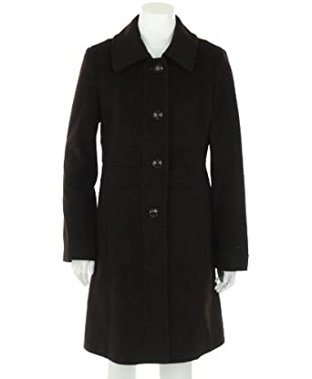 Anne Klein Cashmere Blend Coat Brown 16