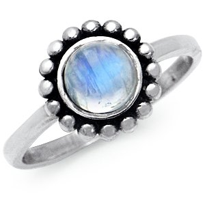 Amazon.com: Natural Moonstone 925 Sterling Silver Balinese ...