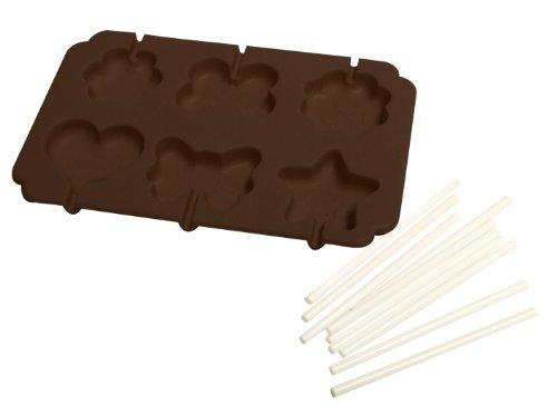 Yoko-Design-1195-Moule-Sucettes-SiliconePlatine-Chocolat-145-x-9-cm