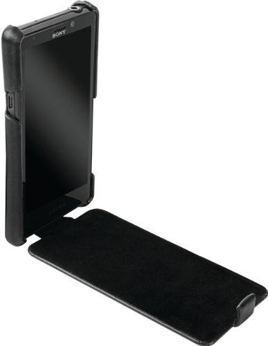 Krusell SLIMCOVERXPERIAT Coque ultra fine avec flip en cuir pour Sony Xperia T Noir Picture