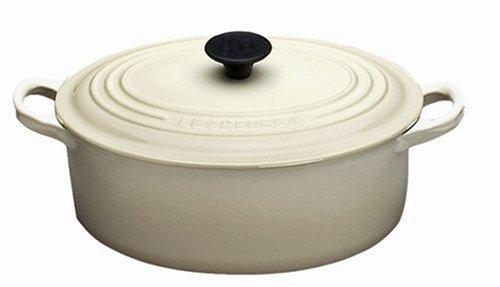 Le Creuset Cast Iron Oval Casserole, Almond, 25 cm