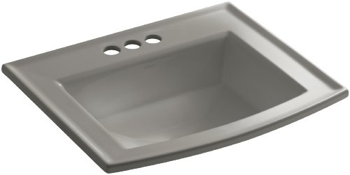 Dune KOHLER K-2356-1-NY Archer Self-Rimming Bathroom Sink with Single-Hole Faucet Drilling