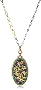 Annie Fensterstock Eden Locket Necklace