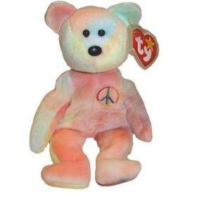 ty-beanie-babies-peace-bear-toy