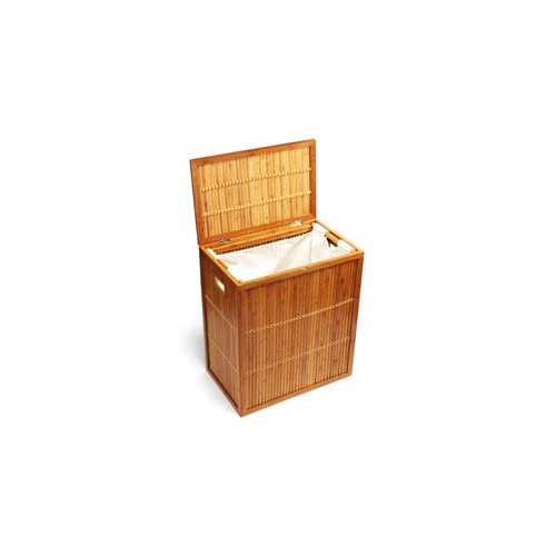 The Container Store Bamboo Lattice Hamper