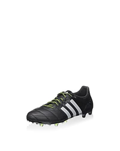 adidas Stollenschuh Ace 15.1 Fg/Ag Leath schwarz/silber