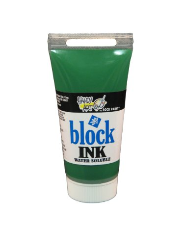 Handy Art 305-030 Water Soluble Block Printing Ink Tube, Green, 1-1/4-Ounce