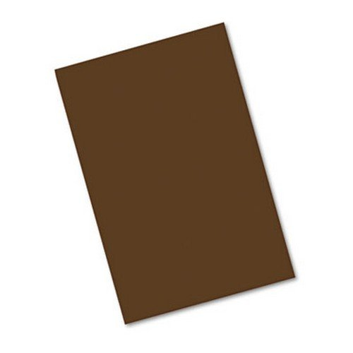 Pacon PAC103630 Construction Paper, 76 lb., 12 in. x 18 in., 50-PK, Dark Brown - 1