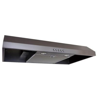 Presenza 7 in Under Cabinet Ducted Range Hood w Push Button in Stainless Steel