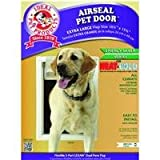 Ideal Pet Products 10.25-by-15.75-Inch Extra-Large Ultra-Flex DraftStopper Pet Door with Telescoping Frame