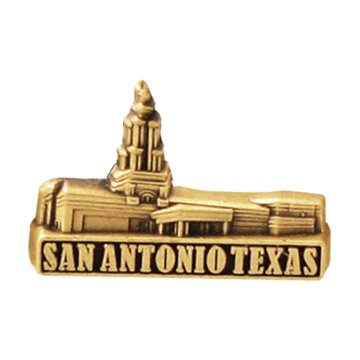 LDS Mens San Antonio Texas Temple Gold Steel Tie Tac / Tie Pin for Boys