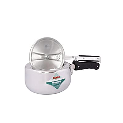TP1381 Premium Magneto Inner Lid Pressure Cooker White Aluminium 2 Liter