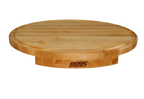 John Boos Corner Counter Saver 24-by-18-Inch Oval-Shaped Cutting Board Reviews