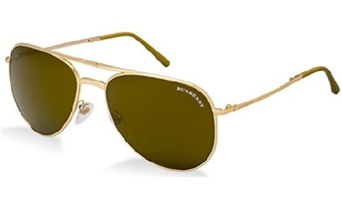Burberry  Burberry 3071 1017/5A Gold 3071 Aviator Sunglasses Lens Category 3