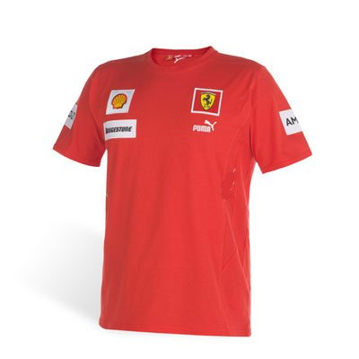 Puma Ferrari Red Kids Team Tee