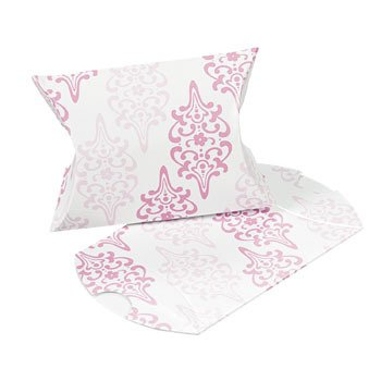 Cherry Blossom Pillow Boxes - Party Favor & Goody Bags & Paper Goody Bags & Boxes
