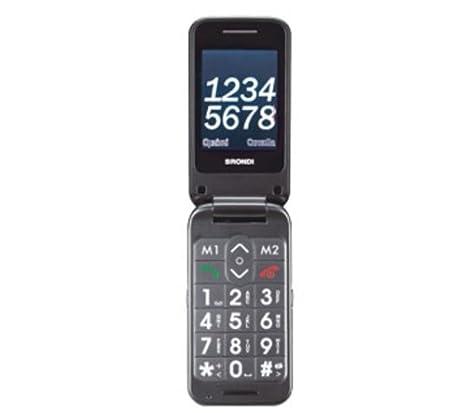 Téléphone Brondi. Mobile. mon ami flip-ouvert double affichage et boutons de grande-duelle de sim-photo