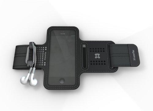 XtremeMac iPhone5/4S/4/3G/3GS/iPod touch対応 軽量スポーツアームバンド スポーツラップシリーズ ブラック IPP-SPN-13