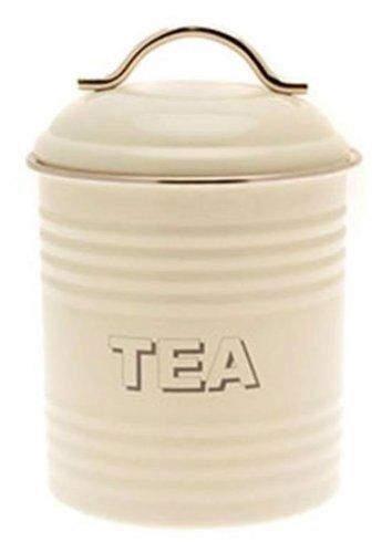 Rétro Boîte à thé Crème