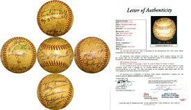 1956 Philadelphia Phillies Signed Warren C. Giles Baseball (JSA) at Amazon.com